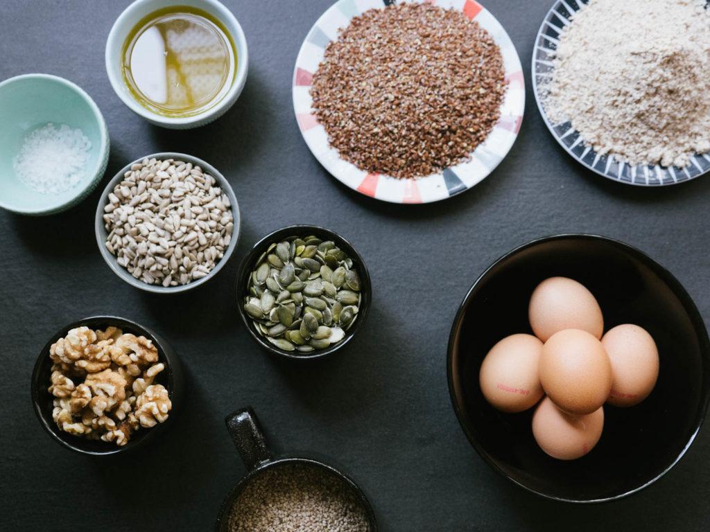 Zutaten Brot ohne Mehl